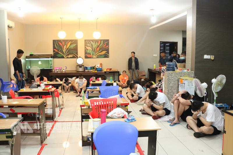 Police arrested foreigners for cyber crime  in Bali, Indonesia (Photo from Indonesian National Police)
