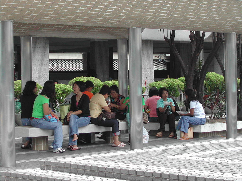 A small meeting of Filipino domestic helpers