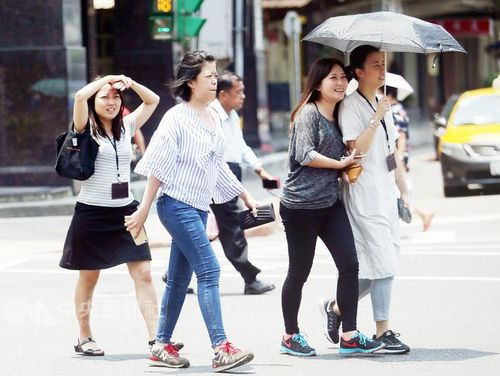 Rain forecast for central, southern Taiwan on Wednesday