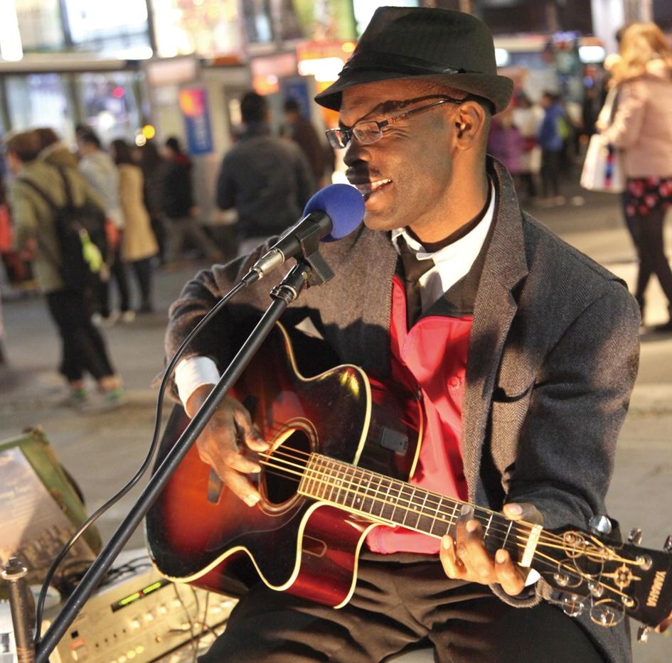Street musician.