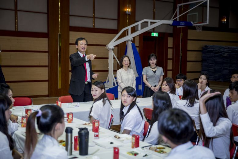 MOFA Deputy Minister François Chih-chung Wu addresses participants in the ministry's International Youth Ambassador Exchange Program in Taipei City. (...