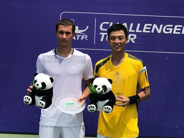 Lu Yen-hsun wins the 2017 Chengdu Challenger title Sunday. (Source: Lu's Facebook)