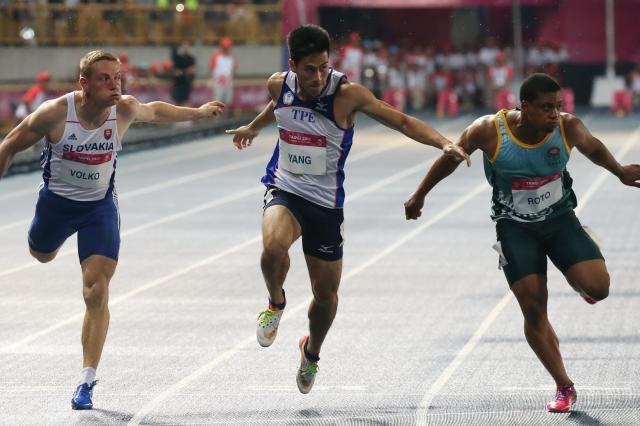 Yang Chun-han captures gold in 100 meters.