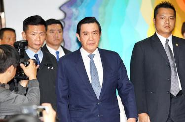Ex-President Ma Ying-jeou at an earlier court appearance.