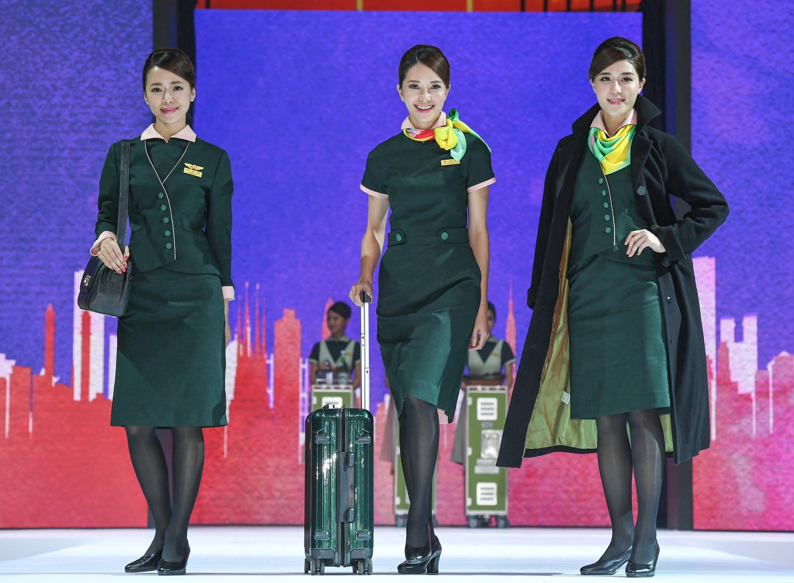 The new EVA Air uniforms (photo courtesy of EVA Air).