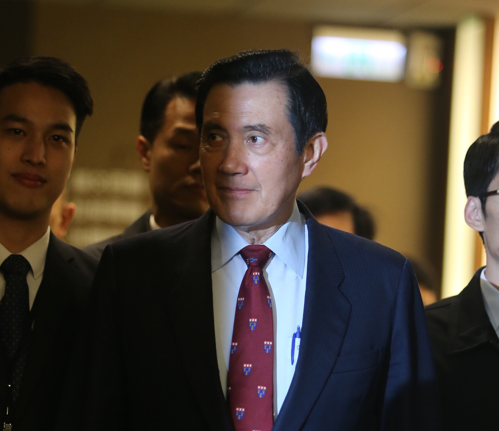 The image shows former Taiwan president Ma Ying-jeou (馬英九)
