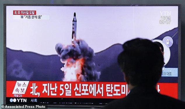 北韓發射飛彈資料照(美聯社)