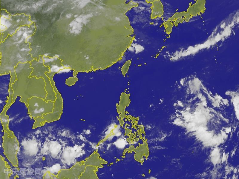圖片來源:截取自中央氣象局網頁。