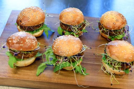 圖為含有昆蟲食材的瑞士蟲蟲漢堡。美聯社