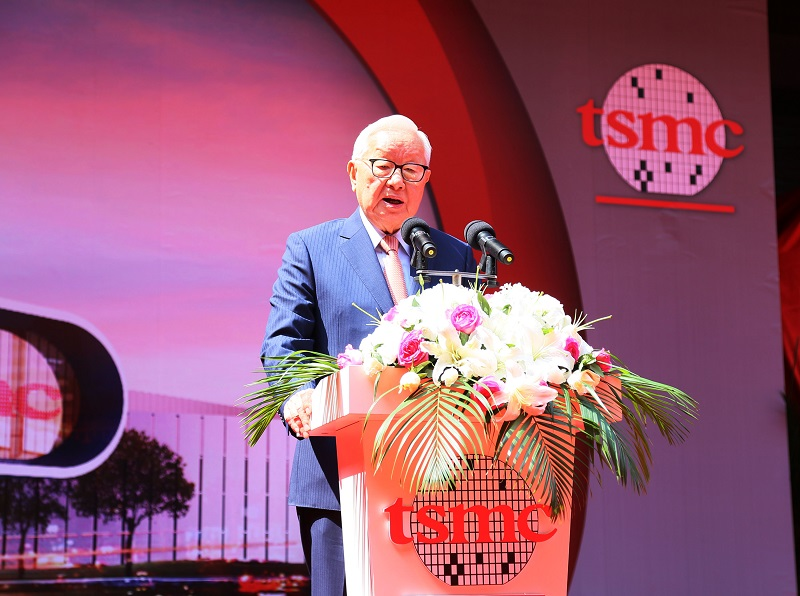 TSMC CEO Morris Chang said Tuesday TSMC's 12-inch fab will be the first volume production base of 16nm process technology in China. (photo credit: TSM...