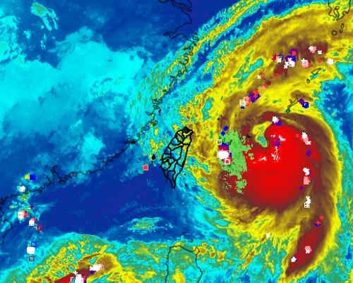 Satellite image of Typhoon Talim. (Peng Chi-ming Facebook)