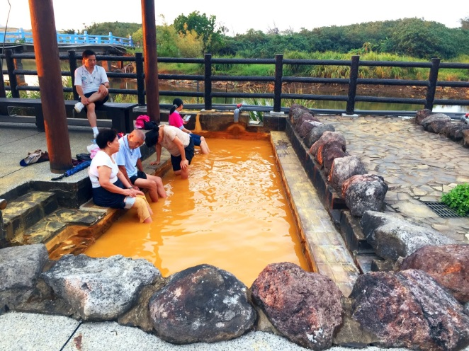 Golden hot springs. (New Taipei City Government)