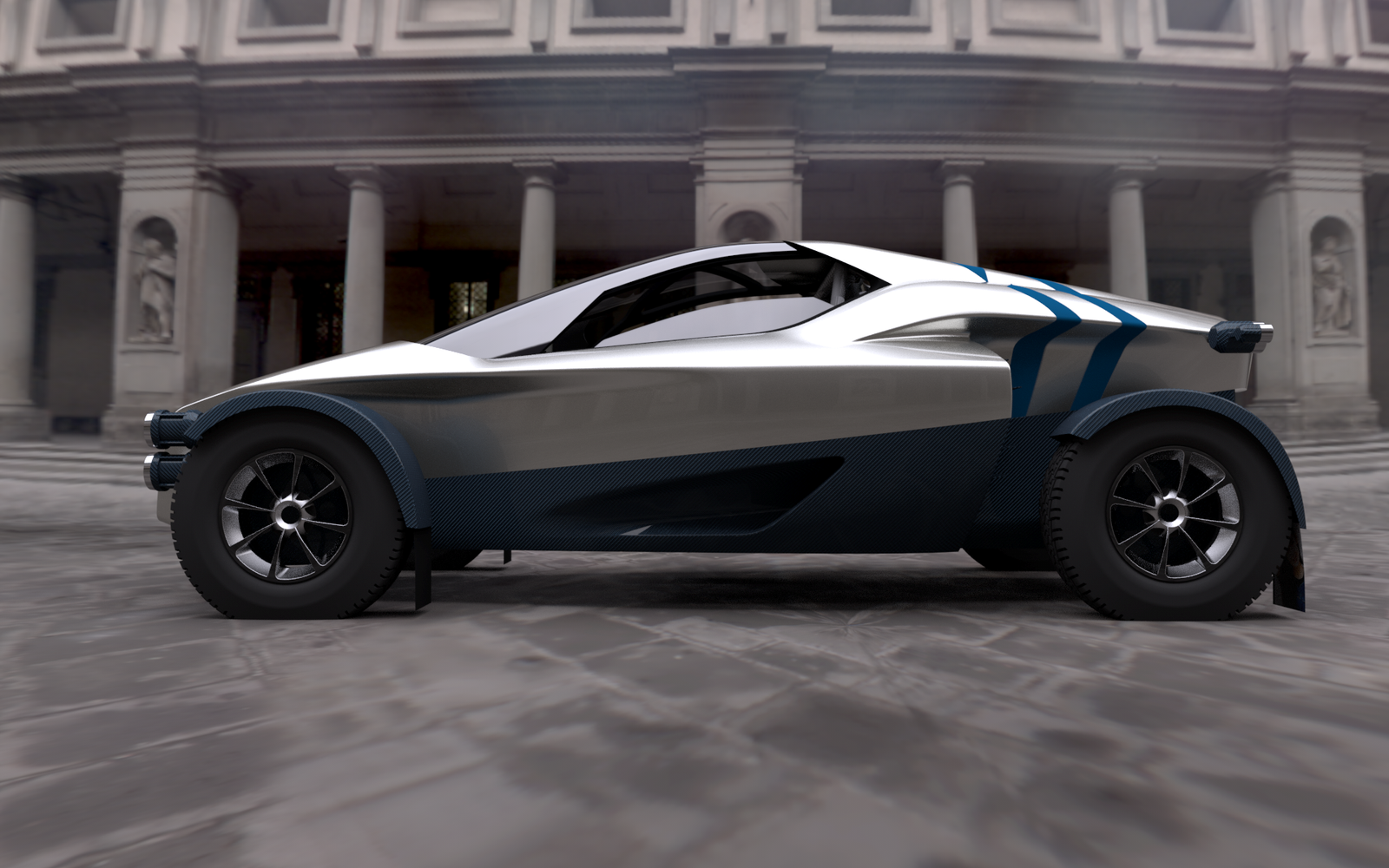 The image shows a visualisation of Miss R, which has been specially designed to produce exhilarating performance both on and off road (Image courtesy ...