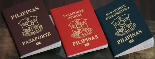 Philippine passports.