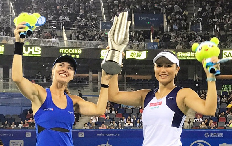 Hingis will be No.1 in the new WTA rankings on Monday, and Chan will occupy the No.2 spot – her career-best ranking.