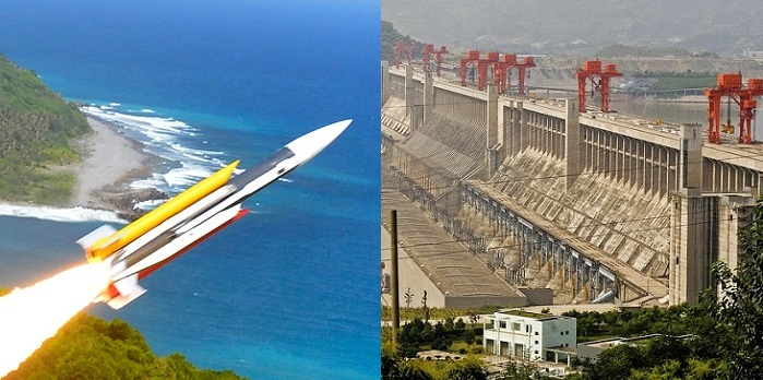Hsiung Feng III (ncsist.org.tw) Three Gorges Dam (Fickr user Marshall Segal)