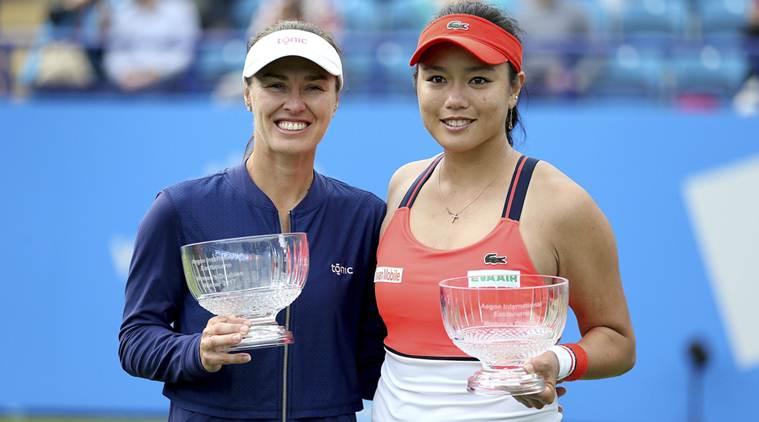 Martina Hingis (left) and Chan Yung-jan.