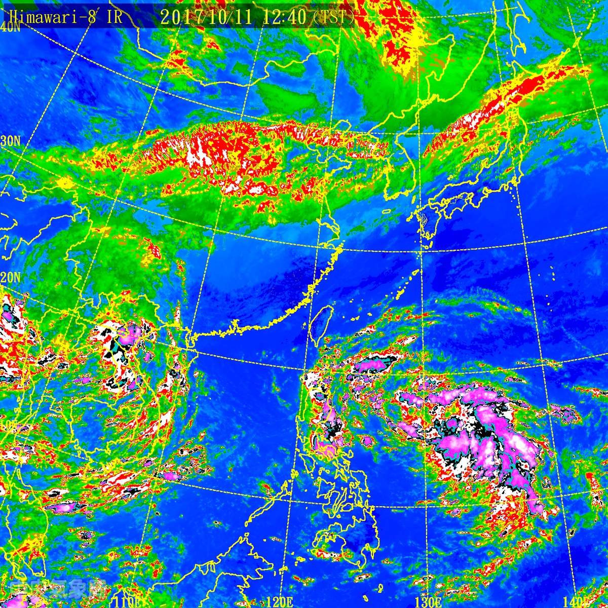 Enhanced satellite image. (Central Weather Bureau)