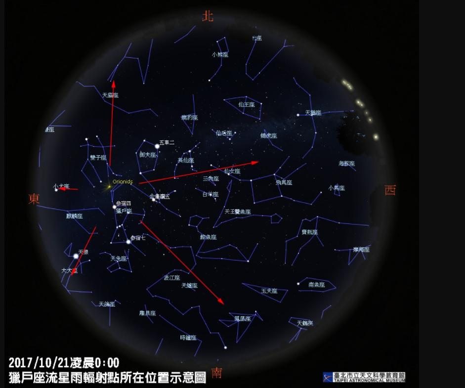 十月最大流星雨!獵戶座流星雨今晚極大期 每小時可見20顆