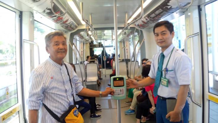 The Kaohsiung Light Rail Transit will begin charging passengers on Nov. 1. (Photo from the KRTC website)