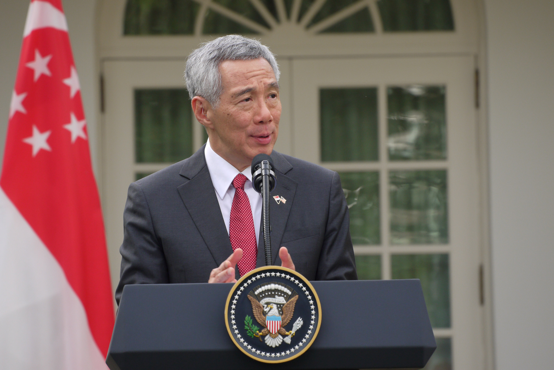 新加坡總理李顯龍25日出席美國華府舉辦的「外交關係協會」座談會。