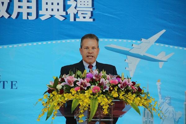 US Customs and Border Protection Executive Director Todd A. Hoffman (Teng Pei-ju/Taiwan News)
