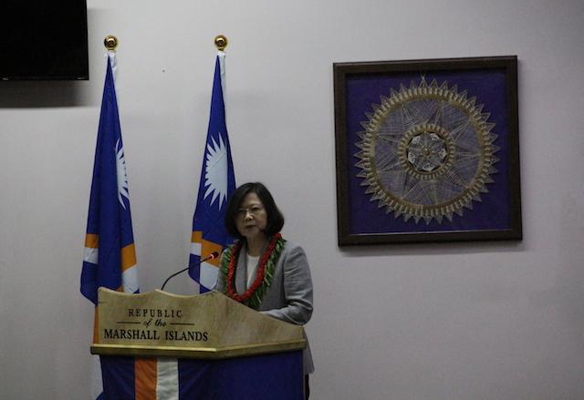 蔡英文總統於馬紹爾國會發表演說(鄧佩儒 攝/台灣英文新聞)