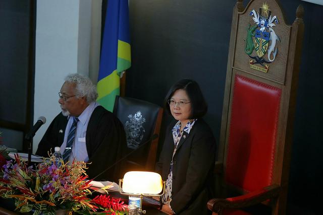 蔡英文索羅門國會演說 提南島文化交流