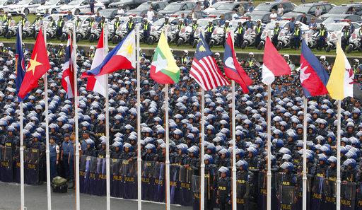 Philippine police prepare for the ASEAN 2017 Summit