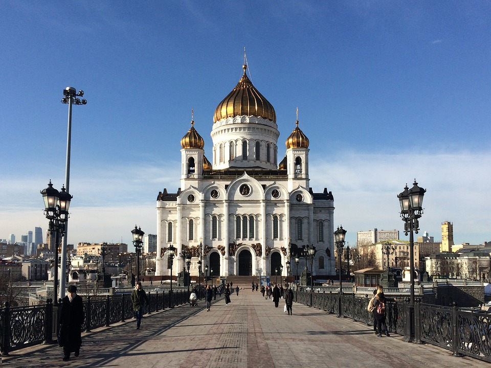 Cathedral of Christ the Saviour in Kremlin, Russia.  Image by Pixabay