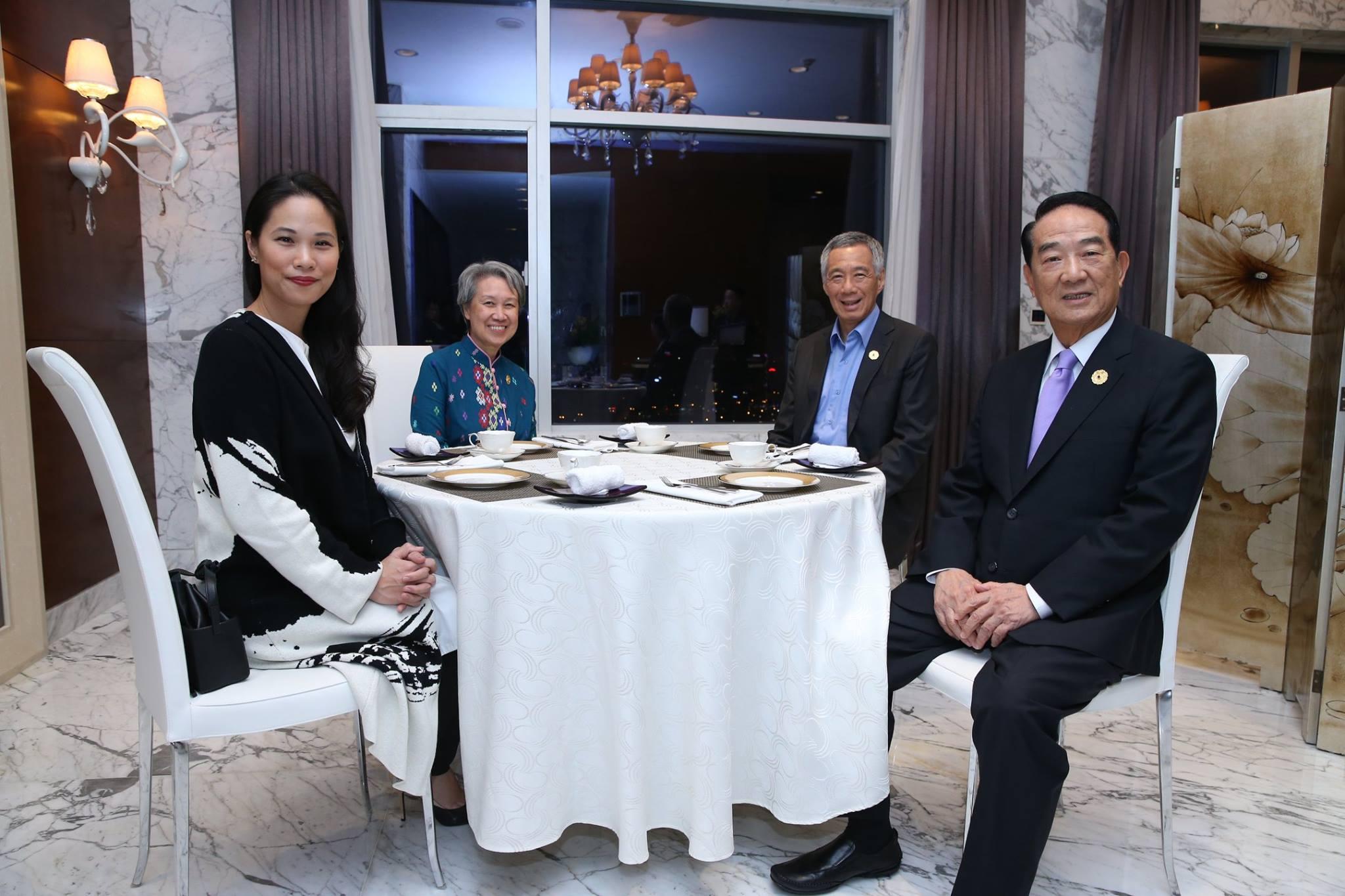 翻攝新加坡總理李顯龍臉書