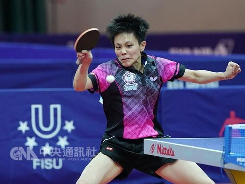 Taiwan's Cheng I-ching and Chen Szu-yu advanced to the women's doubles final of the German Open table tennis tournament on Saturday. (file photo of Ch...