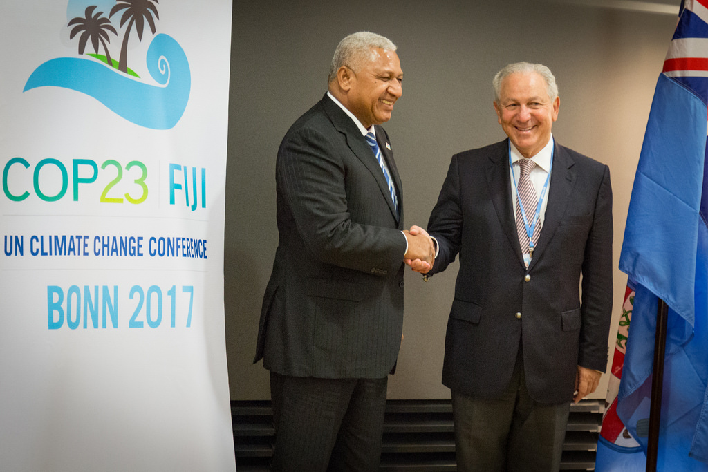 The twenty-third Conference of Parties (COP23) of the United Nations Framework-Convention on Climate Change takes place in Bonn, Germany, presided by