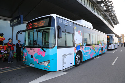 An electric bus at Taichung airport