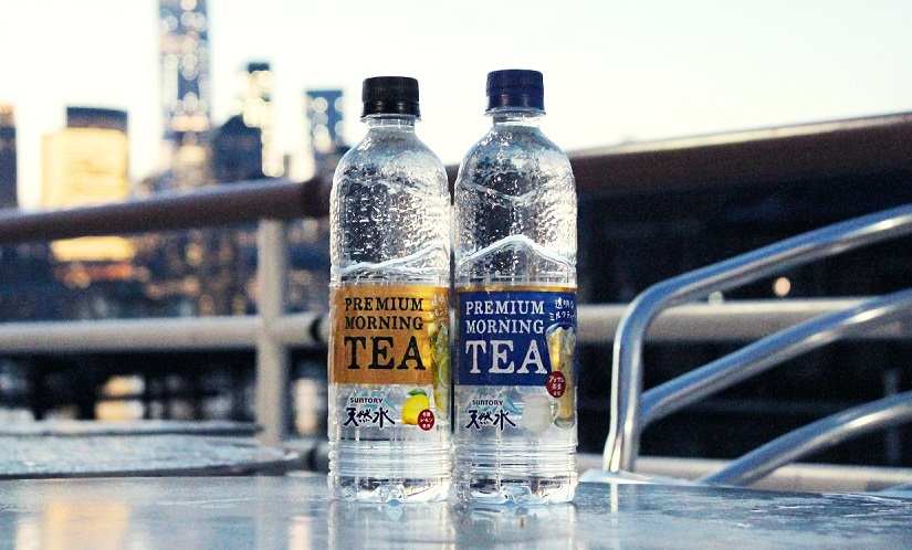 Suntory transparent milk tea products. (Image from Suntory Twitter page)