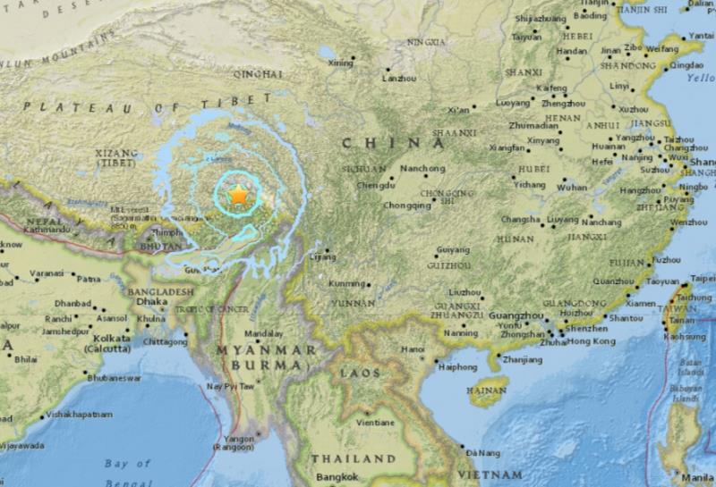 圖取自USGS網站 earthquake.usgs.gov。