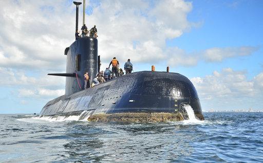 圖為失聯潛艦資料照片。美聯社