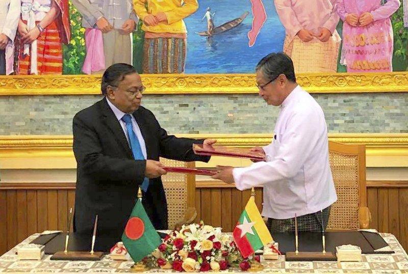 緬甸與孟加拉昨(23)日,就遣返羅興亞難民回緬甸的相關事項,簽署協定。(中央社)