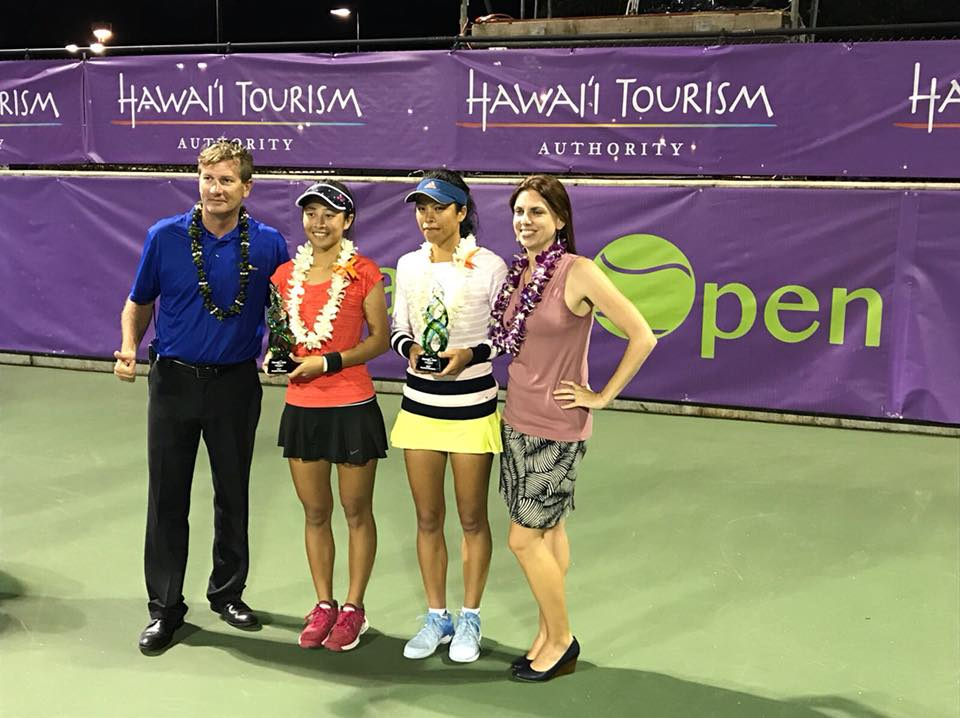 【夏威夷網球公開賽】謝淑薇謝淑映姊妹聯手  首奪WTA系列賽雙打冠軍