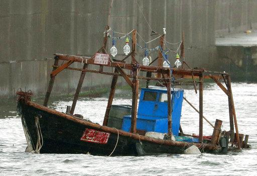 漂抵日本之北韓木船(圖片來源:美聯社)