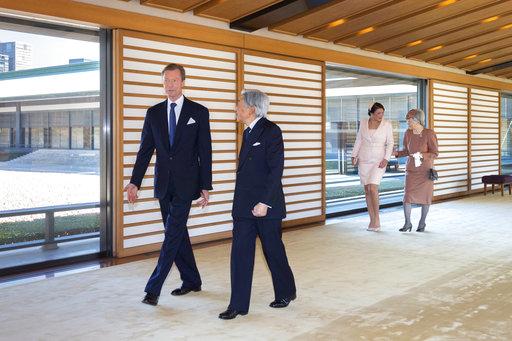 日本天皇和盧森堡大公(圖片來源:美聯社)