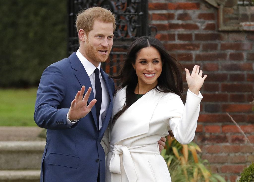 哈利王子(Prince Harry)和未婚妻梅根馬克爾(Meghan Markle)在克萊倫斯宮(Clarence House)的花園公開