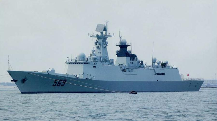 A Chinese Navy frigate of the 054A type.