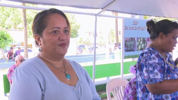 馬紹爾群島沃特傑環礁的市長夫人莉娜(Lina Kijiner-Kisino)(照片提供:比亞拿里虹)