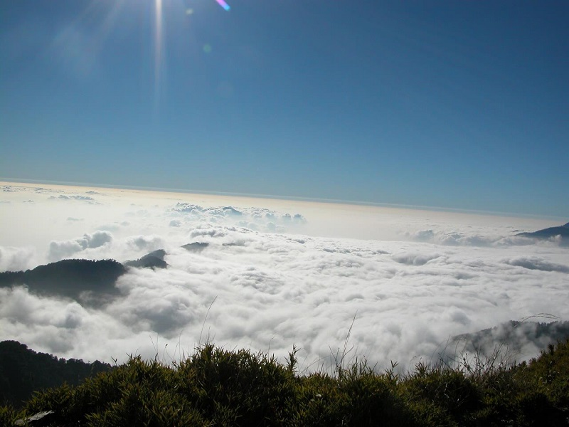 The spectacular sunset over the sea of clouds on Hehuan Mountain. (Photo courtesy of the Taroko National Park administration)