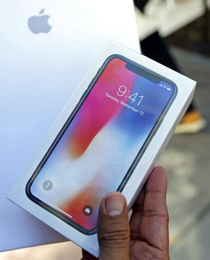 圖為iPhone X。美聯社