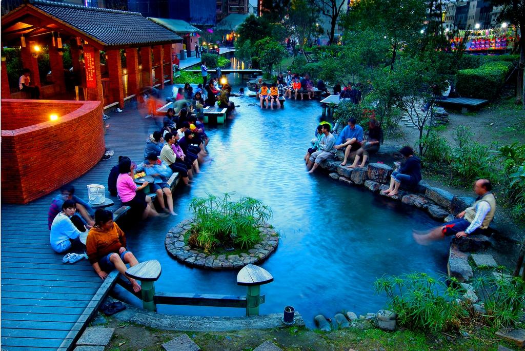 Public Hot Spring In Jiaoxi Yilan County Image Tourism Bureau