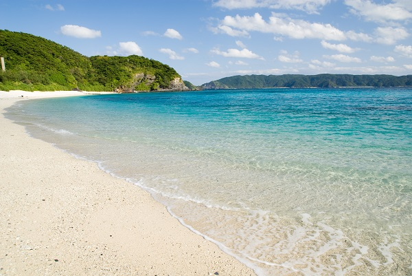 Furuzamami Beach, on Zamami Island, Okinawa Prefecture.