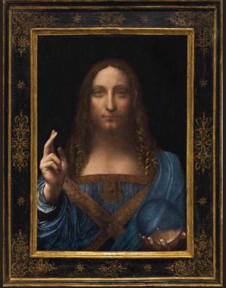最新證實為達文西親筆畫作的【救世主】,為史上賣出價錢最高的藝術畫作。(來源:Louvre Abu Dhabi 推特帳戶,https://t