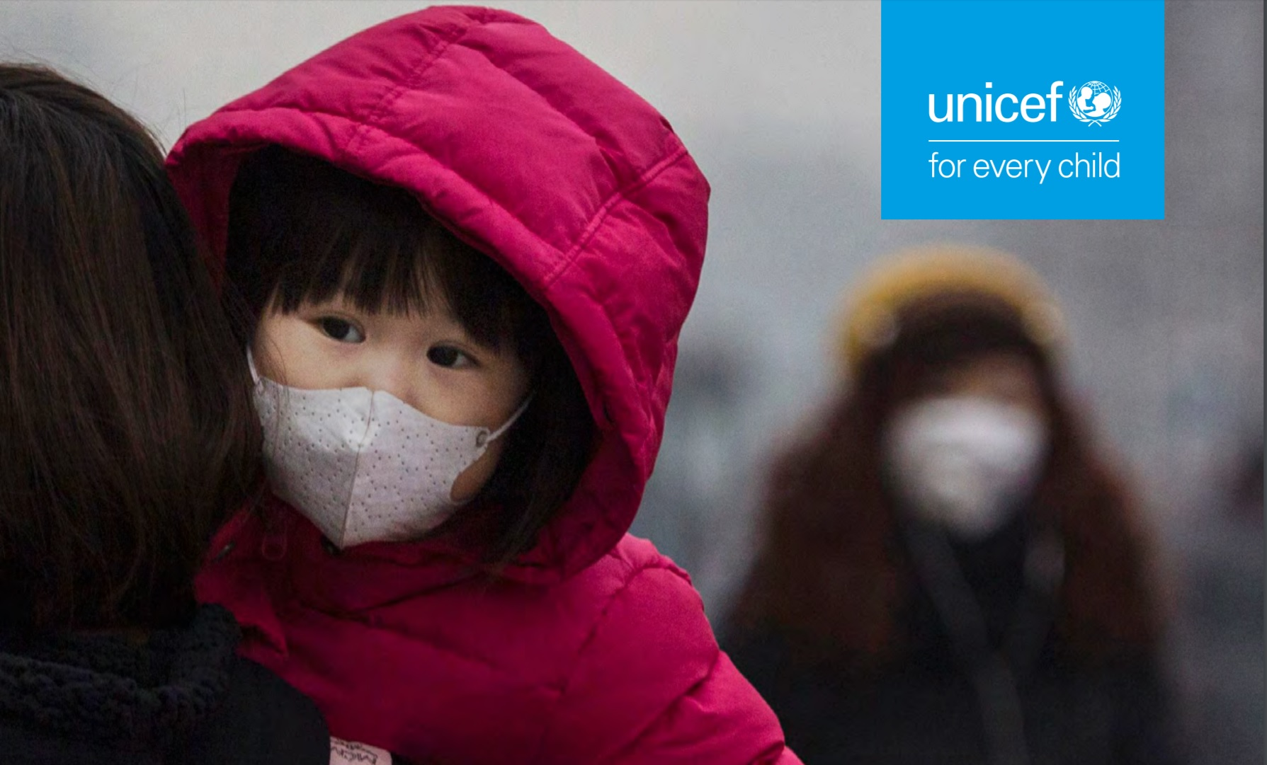 圖片擷取自UNICEF最新報告《Danger in the air》
